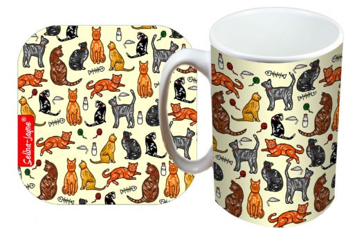 Selina-Jayne Cats Limited Edition Designer Mug and Coaster Gift Set